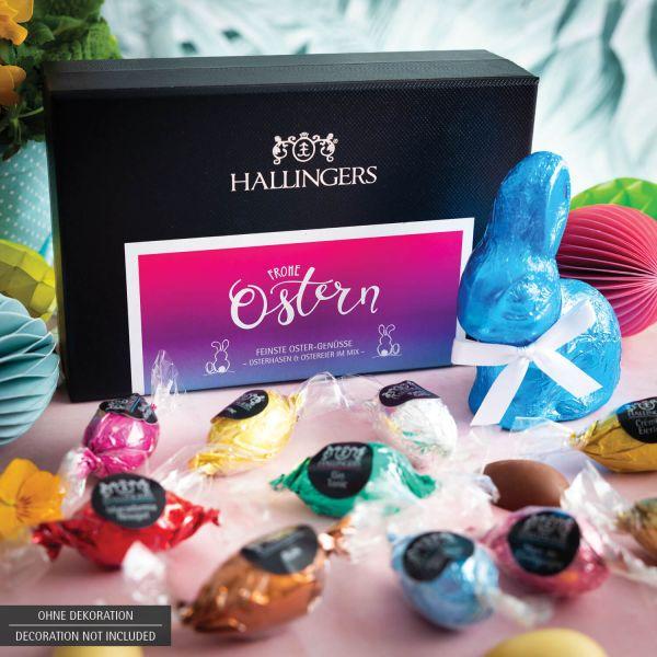 Osterhasen & Ostereier-Mix, mit/ohne Alkohol (170g) - Fröhliche Ostergrüße (MiniDeluxe-Box)