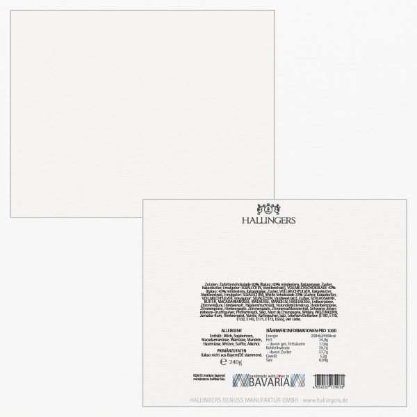 20er Pralinen-Mix handgemacht, mit/ohne Alkohol (240g) - Glitzerweiß (Pralinenbox)