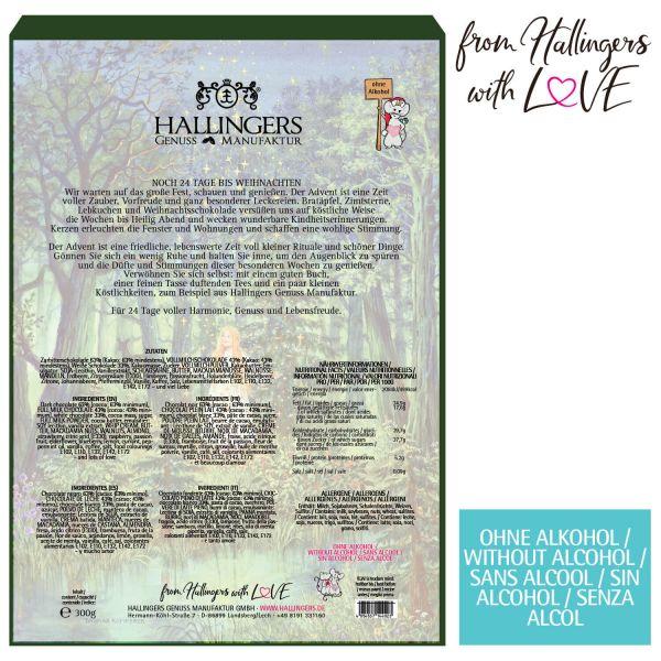 24 Pralinen-Adventskalender, mit/ohne Alkohol (300g) - Sternthaler (Advents-Karton)