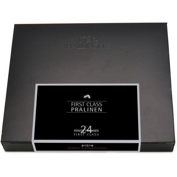 24 Pralinen in edler Geschenk-Box, mit/ohne Alkohol (300g) - First Class (FirstClass-Box)