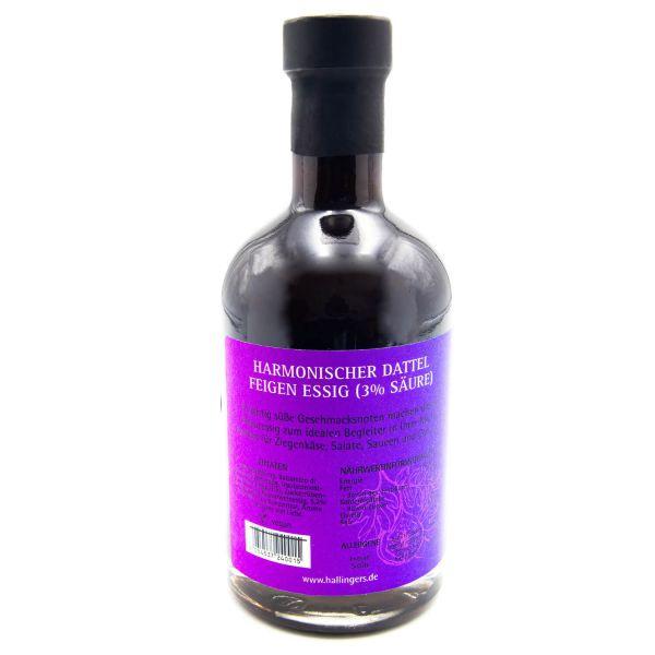Gourmet-Essig (350ml) - Harmonischer Dattel-Feigen-Essig (3% Säure) (Exklusivflasche)