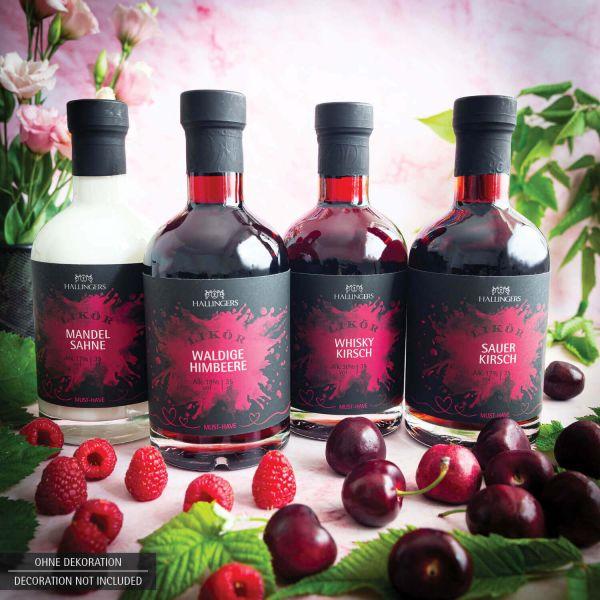 Premium Kirsch-Whiskey (350ml) - Whisky Kirschzauber 30% vol. (Exklusivflasche)