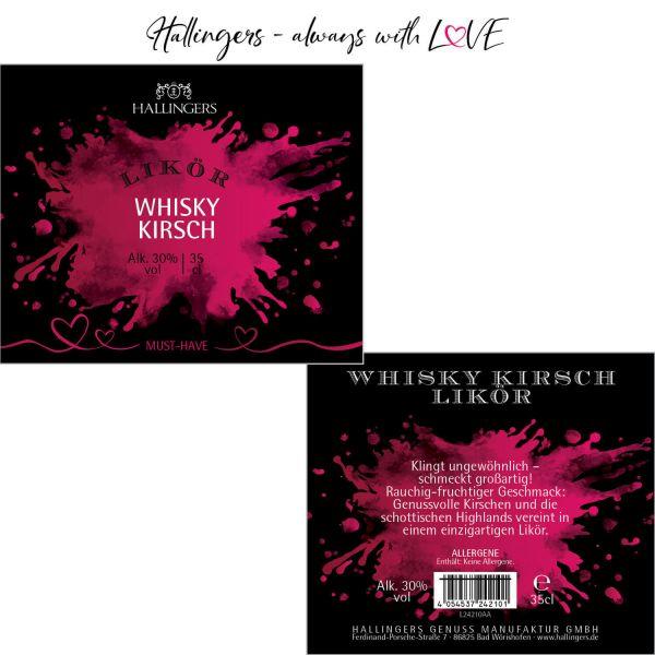 Premium Kirsch-Whiskey-Likör (350ml) - Whisky-Kirsch, Likör 30% vol. (Exklusivflasche)