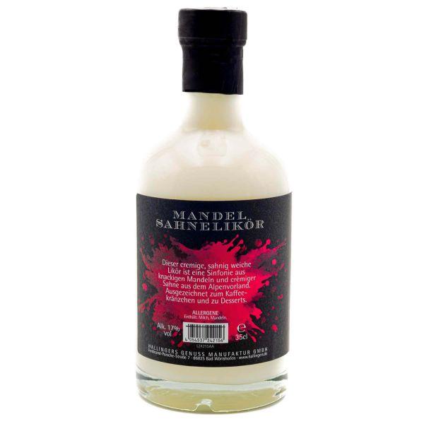 Premium Mandel-Sahne-Likör (350ml) - Mamas Mandelsahne 17% vol. (Exklusivflasche)