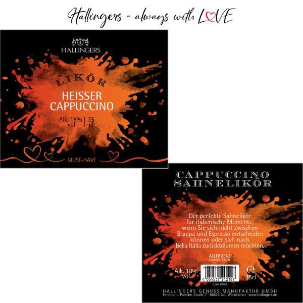 Premium Kaffee-Sahne-Likör (350ml) - Cappucino, Likör 18% vol. (Exklusivflasche)