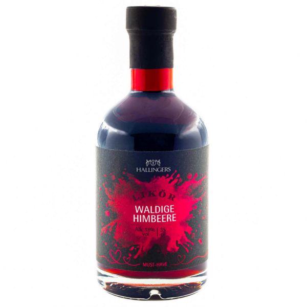 Premium Himbeer-Likör (350ml) - Waldige Himbeere 18% vol. (Exklusivflasche)
