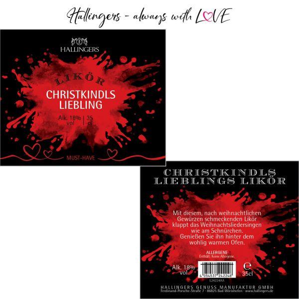Premium Weihnachts-Birne-Likör (350ml) - Christkindls Liebling, Likör 18% vol. (Exklusivflasche)
