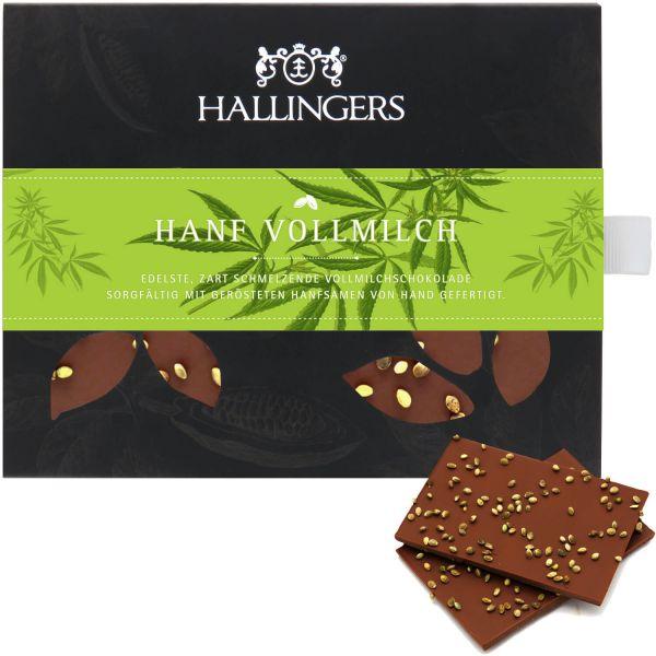 Vollmilch-Schokolade, zart schmelzend hand-geschöpft (90g) - Hanf Vollmilch (Tafel-Karton)