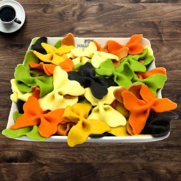 Pasta aus Hartweizengries, natürlich eingefärbt (500g) - Bunte Nudeln im Mix (Aromabeutel)