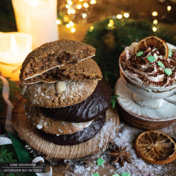 5 saftige Elisen-Lebkuchen hoher Kernanteil handgemacht (400g) - Selection (Beutel)