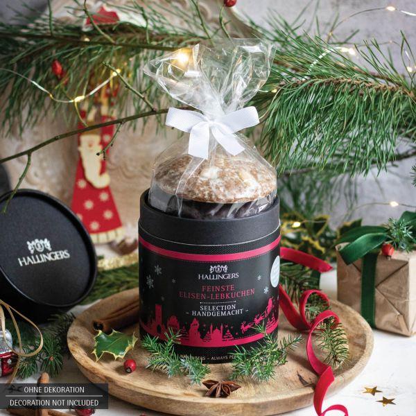 5 handgemachte Elisen-Lebkuchen in edler Papierdose (400g) - Selection (Naschdose)