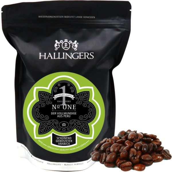 Gourmet-Kaffee aus Peru, schonend langzeit-geröstet (500g) - No. One (Aromabeutel)