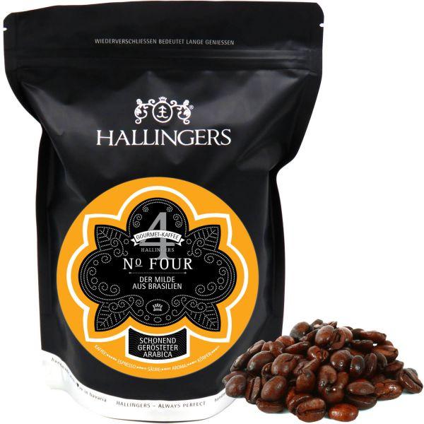 Gourmet-Kaffee aus Brasilien, schonend langzeit-geröstet (500g) - No. Four (Aromabeutel)