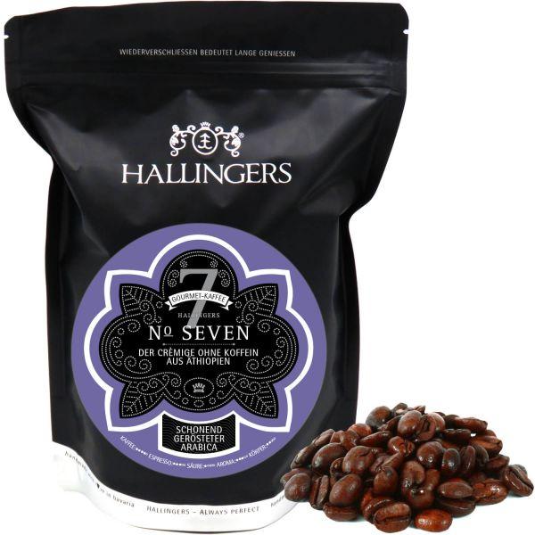 Entkoffeinierter Gourmet-Kaffee aus Äthiopien, schonend langzeit-geröstet (500g) - No. Seven (Aromabeutel)