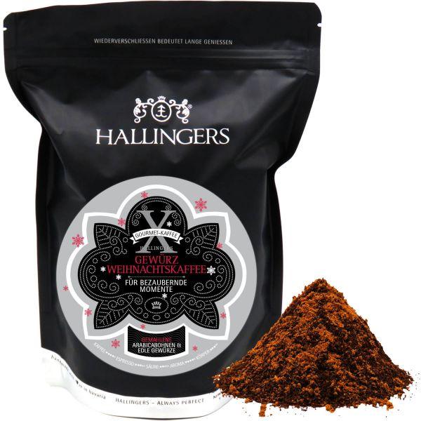 Gewürzter Gourmet-Kaffee, schonend langzeit-geröstet (500g) - Weihnachtskaffee, Filter-Mahlung (Aromabeutel)