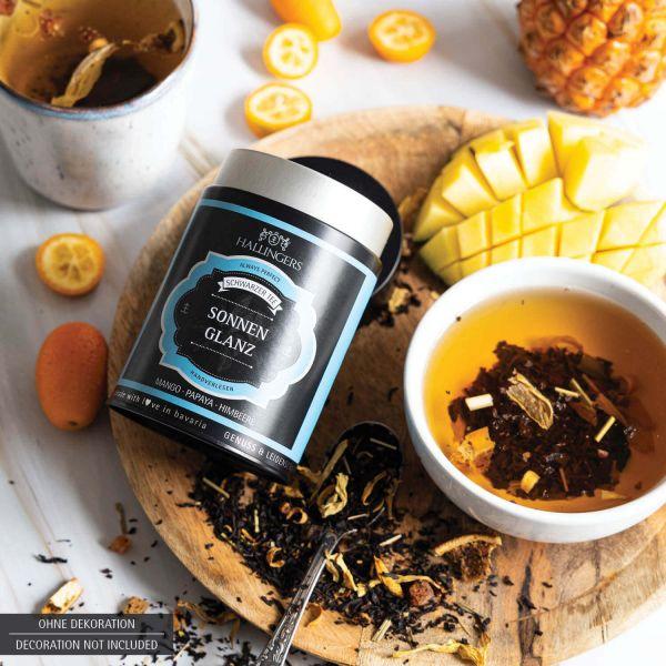Loser Schwarz-Tee mit Mango, Papaya & Himbeere (90g) - Sonnenglanz (Premiumdose)