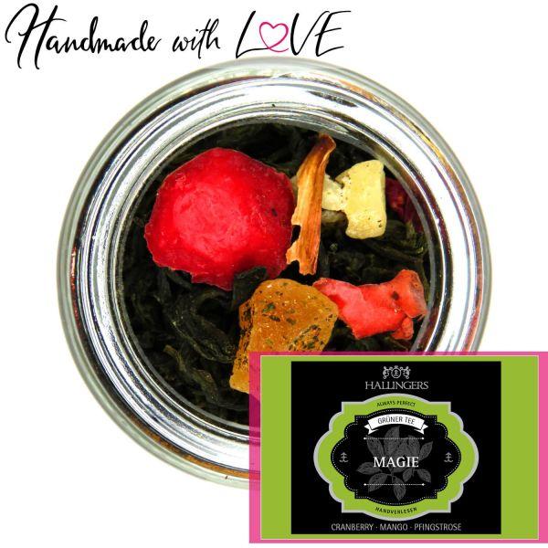 Loser Grün-Tee mit Cranberry, Mango & Pfingstrose (80g) - Magie (Premiumdose)