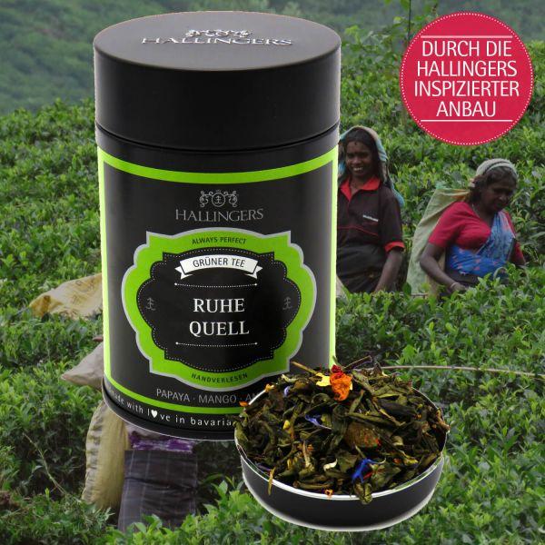 Loser Grün-Tee mit Papaya, Mango & Ananas (80g) - Ruhequell (Premiumdose)