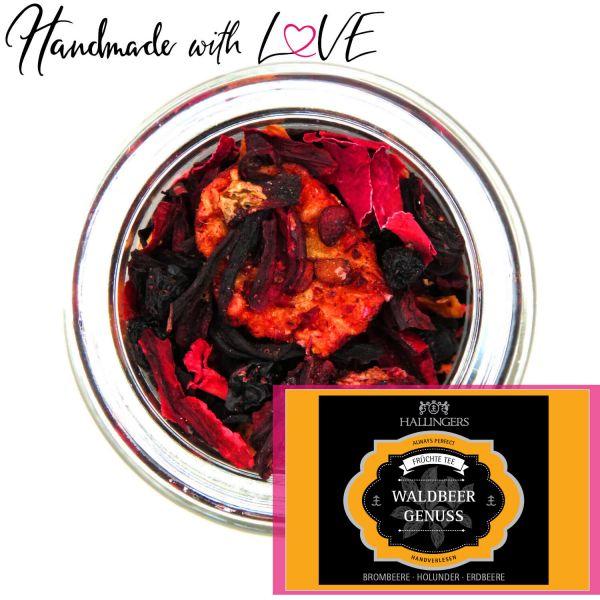 Loser Früchte-Tee mit Brombeere, Holunder & Erdbere (110g) - Waldbeergenuss (Premiumdose)