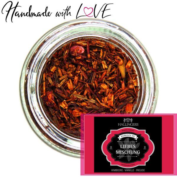 Loser Roibusch-Tee / Rooibostee mit Himbeere & Vanille (120g) - Liebesmischung (Premiumdose)