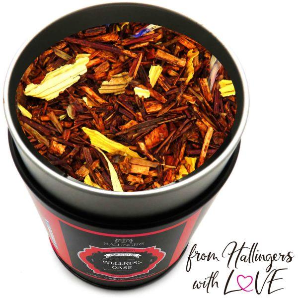 Loser Roibusch-Tee / Rooibostee mit Ananas, Kornblume & Sonnenblume (120g) - Wellness Oase (Premiumdose)