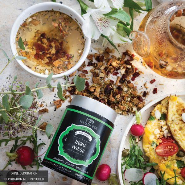 Loser Kräuter-Tee mit Hagebutte, Zitrone & Ringelblume (110g) - Bergwiese (Premiumdose)