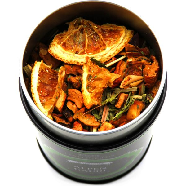 Loser Kräuter-Tee mit Süßapfel, Orange & Lemongras (110g) - Alpengaudi (Premiumdose)