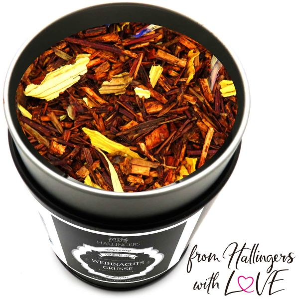 Loser Früchte-Tee mit Vanille Orange & Hagebutte (120g) - Weihnachtsgrüße (Premiumdose)