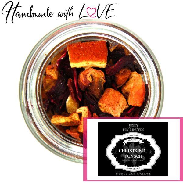 Früchte-Tee mit Vanille, Orange & Hagebutte (130g) - Christkindlpunsch (Premiumdose)