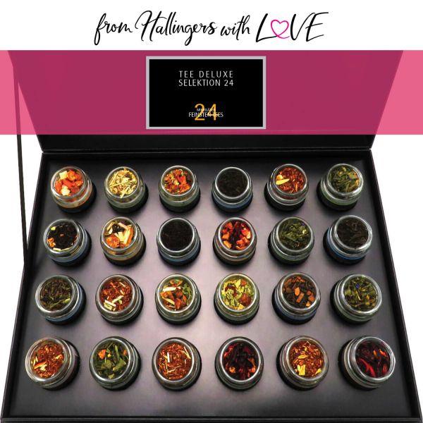 Tee-Geschenk-Set 24 Tees aus aller Welt (240g) - Tee Deluxe Selektion 24 (Deluxe-Box)