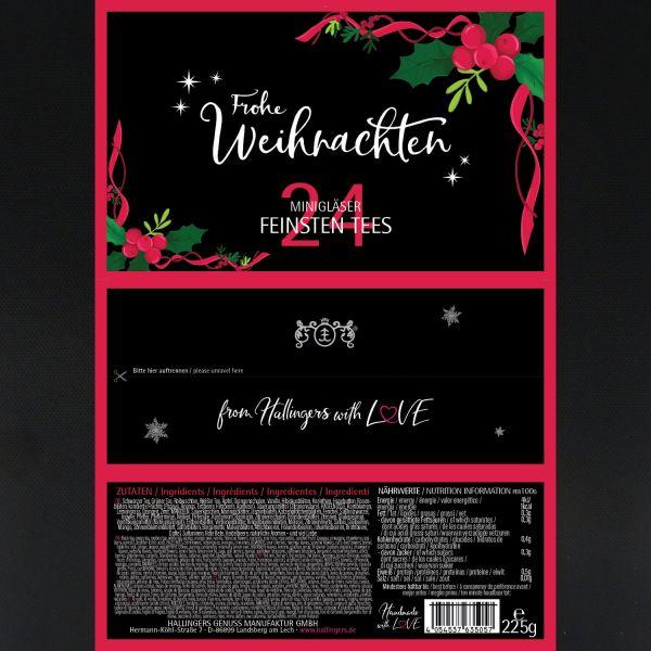 Tee-Geschenk-Set zum Advent, 24 Tees aus aller Welt (225g) - Frohe Weihnachten (Set)