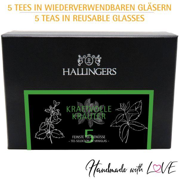 5er Tee-Geschenk-Set Kräutertee (40g) - Kraftvolle Kräuter (MiniDeluxe-Box)