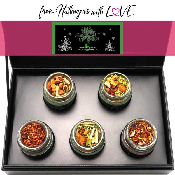 5er Weihnachts-Tee-Geschenk-Set (40g) - Frohe Weihnachten GREEN (MiniDeluxe-Box)