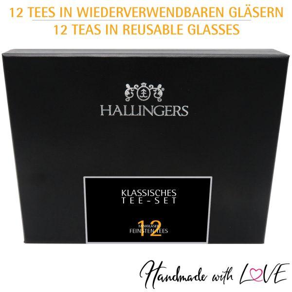 12er Tee-Geschenk-Set mit Tee aus aller Welt (120g) - Klassisches Tee-Set (Design-Karton)