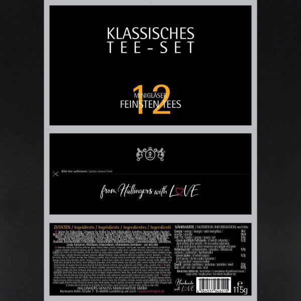 12er Tee-Geschenk-Set mit Tee aus aller Welt (115g) - Klassisches Tee-Set (Set)
