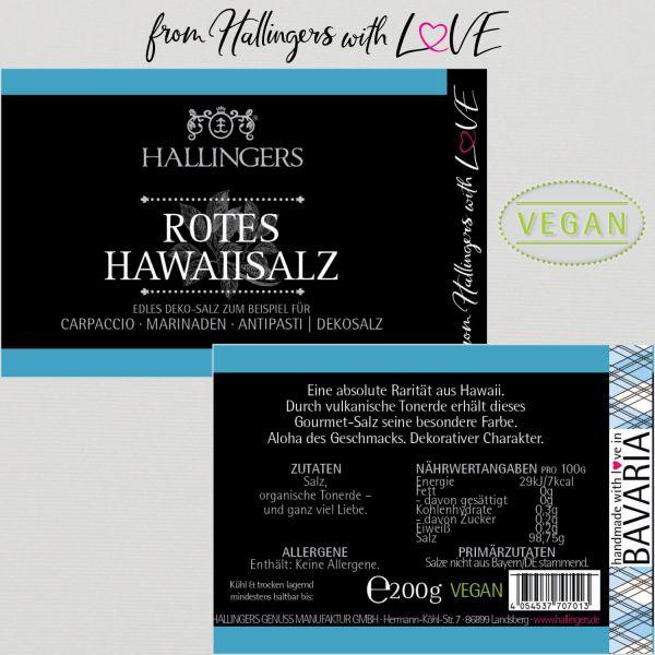 Premium Salz für Carpaccio, Marinaden & Tischsalz (200g) - Rotes Hawaiisalz (Dekosalz) (Aromadose)