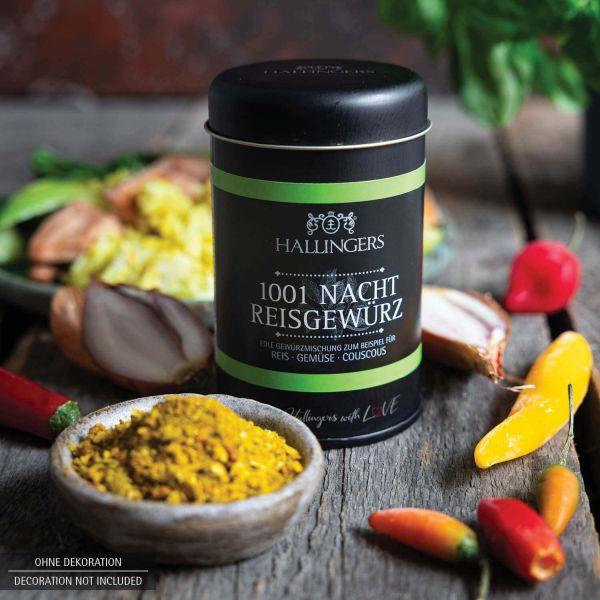 Gewürz-Mischung für Reis, Gemüse & Couscous (95g) - 1001 Nacht Reisgewürz (Aromadose)
