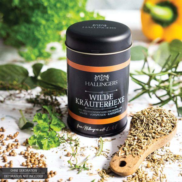 Gewürz-Mischung für Salate, Vorspeisen & Kartoffeln (45g) - BBQ Wilde Kräuterhexe (Aromadose)
