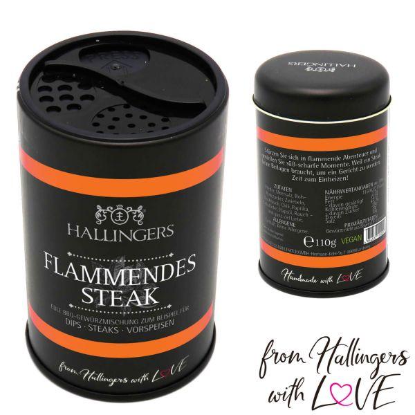 Gewürz-Mischung für Dips, Steak & Vorspeisen (110g) - BBQ Flammendes Steak (Aromadose)