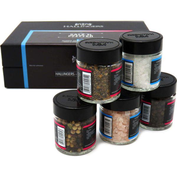 5er Premium-Salz und Pfeffer als Geschenk-Set (120g) - Salz & Pfeffer (MiniDeluxe-Box)