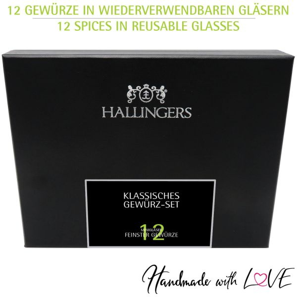 12er Gewürz-Geschenk-Set mit Gewürzen aus aller Welt (220g) - Klassisches Gewürz-Set (Design-Karton)