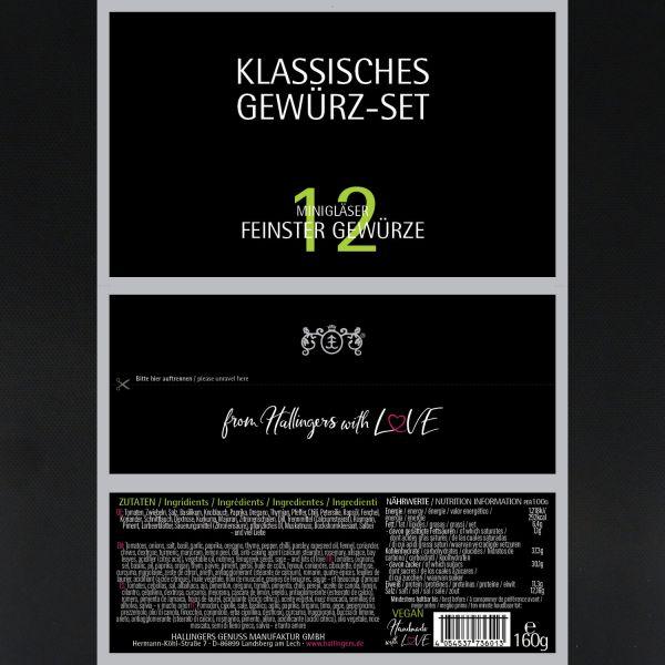 12er Gewürz-Geschenk-Set, Gewürze aus aller Welt (160g) - Klassisches Gewürz-Set (Set)
