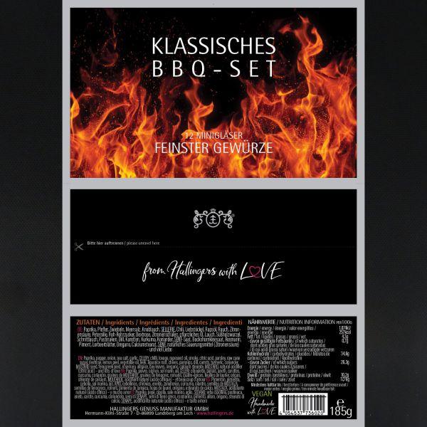 12er BBQ-Geschenk-Set, Gewürze aus aller Welt (185g) - Klassisches BBQ-Set (Set)