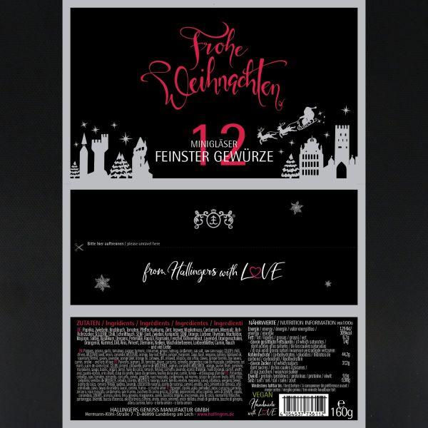 12er Gewürz-Geschenk-Set, Gewürze aus aller Welt (160g) - Frohe Weihnachten (Set)