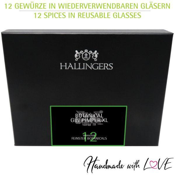 12er Premium Gin Botanicals als Geschenk-Set (142g) - Botanical Gin Pimper XL (Design-Karton)