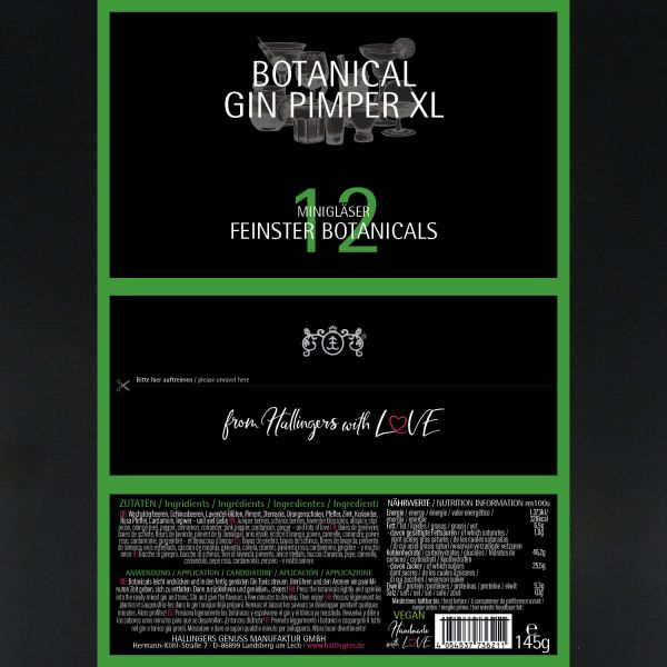 12er Premium Gin Botanicals als Geschenk-Set (145g) - Botanical Gin Pimper XL (Set)