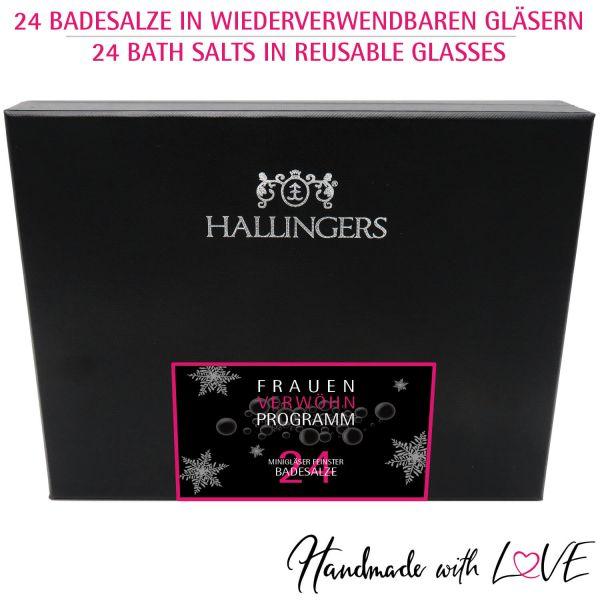 24er Badesalz-Adventskalender mit Totes Meer-Salzen (840g) - Frauen-Verwöhn-Programm - xMas (Deluxe-Box)
