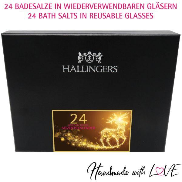 24er Badesalz-Adventskalender mit Totes Meer-Salzen (840g) - Verwöhn-Programm - xMas HIDDEN (Deluxe-Box)