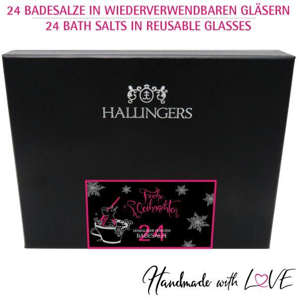 24er Badesalz-Adventskalender mit Totes Meer-Salzen (840g) - Männer-Verwöhn-Programm - xMas (Deluxe-Box)