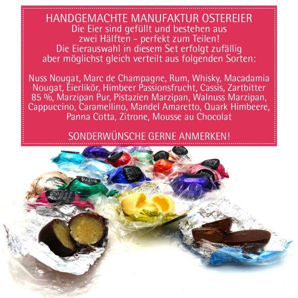 Oster-Geschenk-Set 90 Trüffel und Ostereier für Ostern in edler Box (1.440g) - Easter Box Orange (Deluxe-Box)
